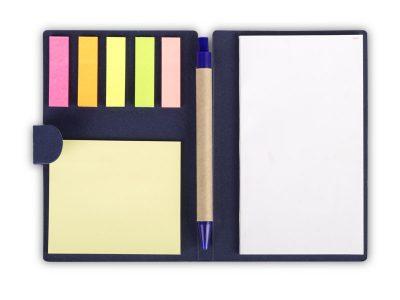 Biorazgradivi notes sa olovkom i nalepnicama za obeležavanje