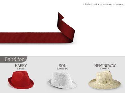 Traka za šešir, poliester