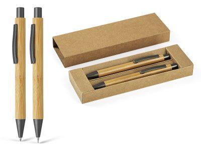 Drvena hemijska i tehnička olovka u setu