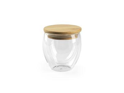 Čaša sa drvenim poklopcem, 250 ml